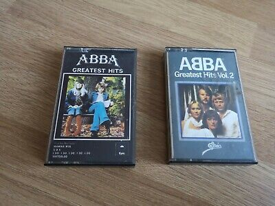 ABBA Greatest Hits Vol 1 And 2 Cassette Tapes Vintage Retro