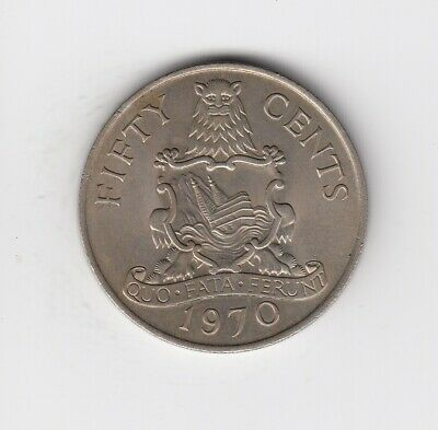 1970 BERMUDA FIFTY CENT UNCirculated Condition Extremely Nice Coin   (4267)