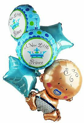 Baby Shower Boy Girl Decorations Set Balloon Huge Foil Helium Balloons Newborn