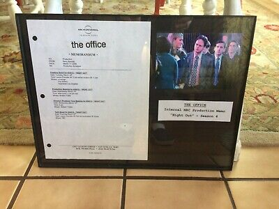 "THE OFFICE Internal Production-Used Memo Season 4 ""Night Out"" Prop NBC Display"