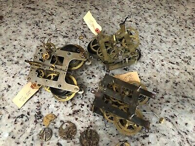 Lot Of Vintage Clock Movements