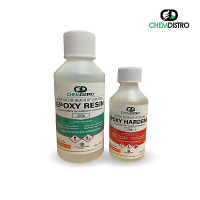 Clear Epoxy Resin 375g Low Viscosity Clear UV Resistant Casting