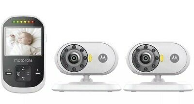 "MOTOROLA 2.4"" 2-Camera 2.4GHz Digital Video Baby Monitor MBP25-2 NEW IN THE BOX"