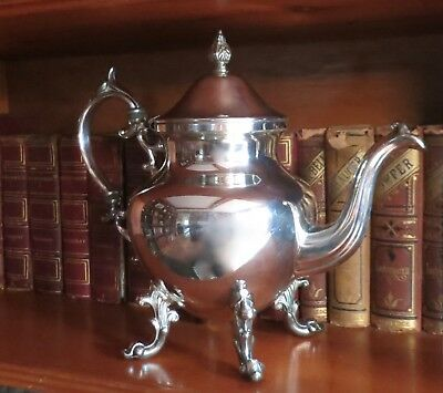 Authentic Vintage Birmingham Silver Co. Coffee Pot Silver on Copper BSCO