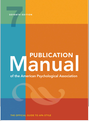 [E-Edition] Publication Manual of the American Psychological Association 7th Edi