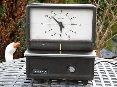 Vintage Industrial BLICK INTERNATIONAL AMANO Clocking-In TimeRecorder Model 5430
