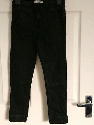 Boys Biker Jeans Trousers Cotton Jogger Style Age 8 Matalan Black