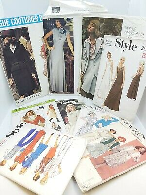 9 x Vintage Sewing Patterns Size 12 (some with multiple sizes) Vogue/New Look +