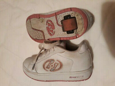 Girls heelys uk size 2 eu 34 white with pink details