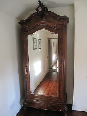 Antique 1880s Louis XV Style French Rosewood Armoire