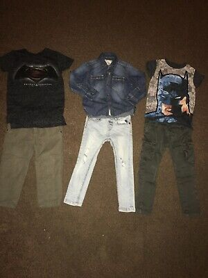Boys 2-3 Years 3 Years Bundle Inc Skinny Ripped Jeans Pants & Tops Mainly Next