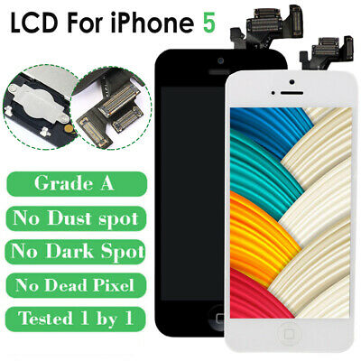 For iPhone 5 Screen Replacement LCD Touch Digitizer Button Camera Assembly US
