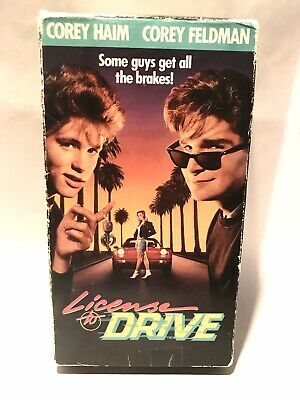 License To Drive VHS tape 80's comedy movie Corey Haim Corey Feldman