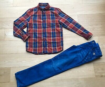 NEXT *11y BOYS FULL OUTFIT JEANS & CASUAL SHIRT AGE 11 YEARS