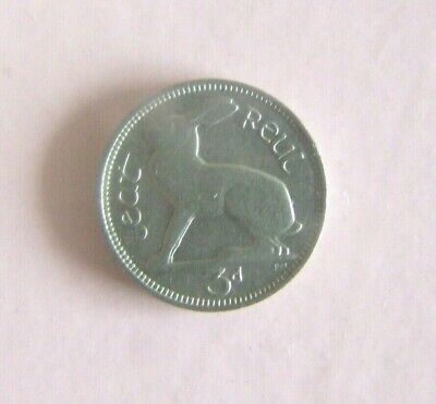 **RARE** 1935 aUNC Irish 3d coin Key Date  **ONLY 240K MINTED**