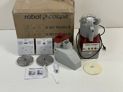 BRAND NEW Robot Coupe R2DICE Base 120V Food Processor Gray w/ Used Attachments