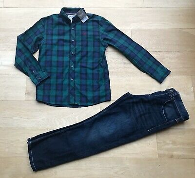 NEXT *10y BOYS FULL OUTFIT JEANS & NEW CASUAL SHIRT AGE 10 YEARS