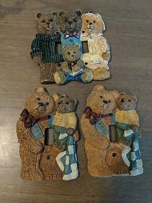 Cute brown bear light switch plate covers Family Bears