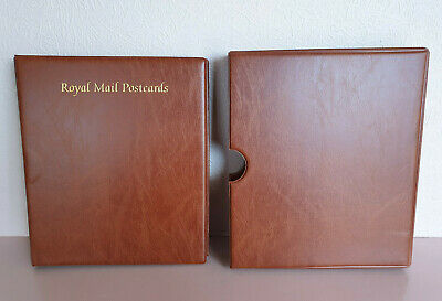 ROYAL MAIL POSTCARD ALBUM & SLIPCASE - 16 PAGES - Holds 128 CARDS Back to Back