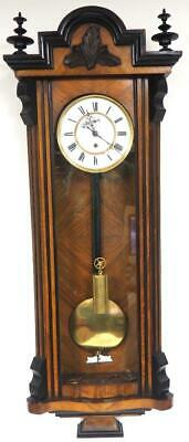 Walnut Antique 8 Day Vienna Wall Clock Single Weight Regulator Wall Clock C1900