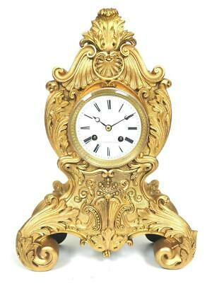 Antique French 8 Day Bell Striking Mantel Clock Bronze Ormolu Mantel Clock C1830