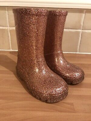 NEXT Girls Pink Glitter Wellies Infant 6