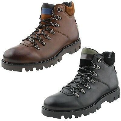 Mens Rugged Genuine Leather Work Boots, Casual Boots for Men, Mens Fashion Boots