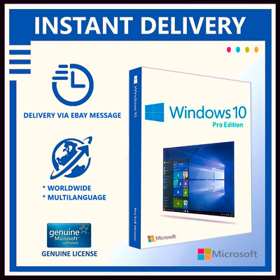 ⁣Windows⁣ 10 ⁣Pro⁣ ⁣Professional⁣ 32⁣/⁣64bit ⁣Genuine⁣ ⁣License⁣ ⁣Key⁣ ⁣Instant⁣
