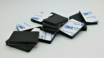 "1"" X 1 1/2"" Silicon Rubber Rectangle Feet for Lab & med Equipment. 3/16"" Height."