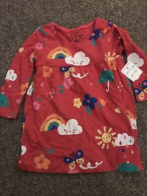 Brand new with tags baby girl rainbow dress tunic 6-9 months