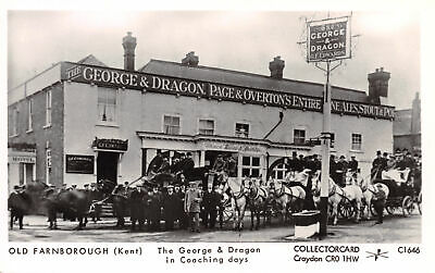 R241799 Old Farnborough. Kent. The George and Dragon in Coaching days. Collector