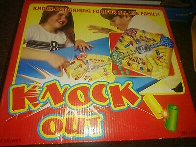 """'Knock Out' Rare Vintage Family Board Game By PMS. Like 'Frustration"""". VGC"""