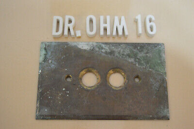 Antique Brass Single Push Button Switch Plate