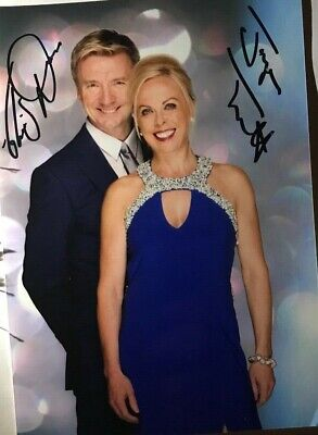 Jayne Torvill and Christopher Dean -   Hand signed autograph photo with COA