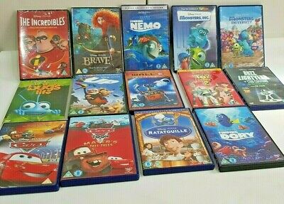 DISNEY PIXAR DVD Movie Job Lot: Toy Story 2 Finding Nemo Cars Up Walle Brave Ant