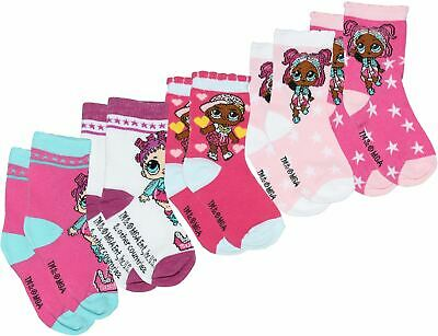 Lol Surprise Girls Socks 5 Pack Mixed Colour Mixed
