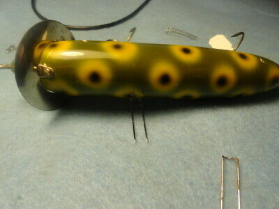 """heddon 200 surface lure frog spot chrome dowagiac stamped lip """"L"""" rig hdrwnice 3"""