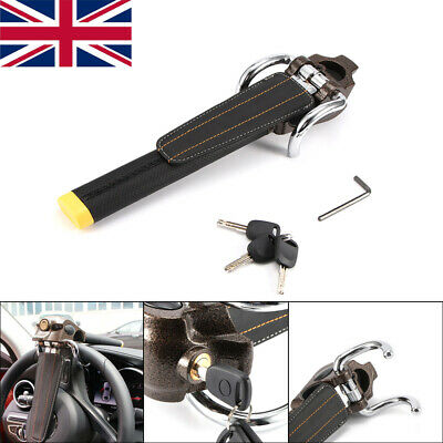 Foldable Car Steering Wheel Anti Theft Security Airbag Lock Safe Device + 3 Keys