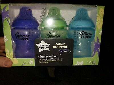 Tommee Tippee Closer to Nature Color My World  Hawaii Baby Bottle