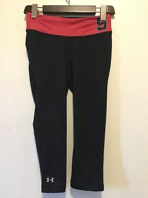 Under Armour UA Girls fitted cropped leggings heat gear size Small