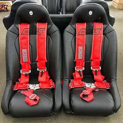 Slasher Racing 5 Point Latch & Link 1 Seat Belt Harness Red