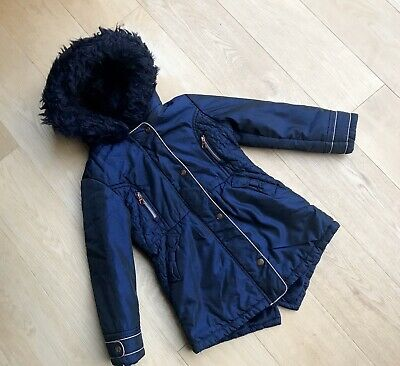 TED BAKER GIRLS COAT *6y GIRLS BLUE DESIGNER COAT AGE 6 YEARS