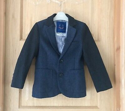 NEXT *6y BOYS TWEED STYLE JACKET BLAZER COUNTRY CASUAL COAT AGE 6 YEARS