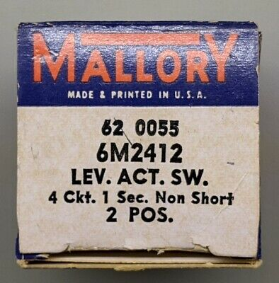 MALLORY 460 ESCUTCHEON NOMENCLATURE PLATE for ROTARY SWITCH 1-10 20 degrees