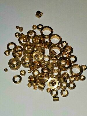 Brass Bushing Assortment for Grandfather Wall Mantle Antique Clocks 100 Pcs New