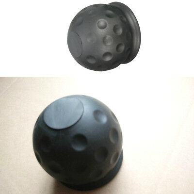 50mm Black Tow Ball Cover Caps Towing Hitch Caravan Trailer Towball Protect tool