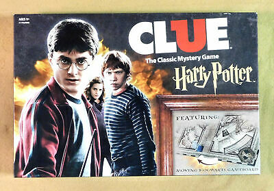 Clue Harry Potter Edition With Moving Hogwarts Gameboard 2016 - 100% Complete