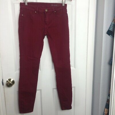 Women's Blank NYC Raspberry Red Legging Jeans Size 27 Stretchy Comfort