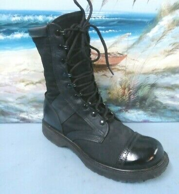 Corcoran Leather Black Combat Millitary Jump Boot Mens Sz 11.5 D  STYLE  17146