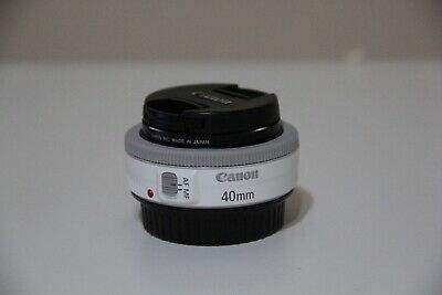Canon EF 40mm f/2.8 STM Lens white w/ protect film
